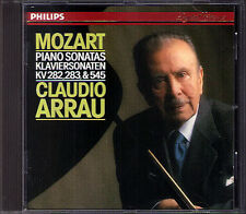 Claudio ARRAU: MOZART Piano Sonata K.282 283 545 PHILIPS CD 1987 Klaviersonaten