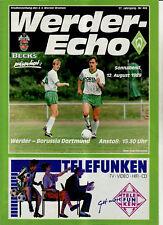 BL 89/90 SV Werder Bremen - Borussia Dortmund