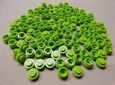 x100 NEW Lego Lime Green Plates Caps 1 x 1 Round Plates