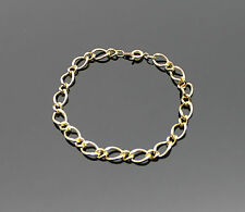 LOVELY UNISEX GIFT YELLOW GOLD GP 19CM OPEN LINK MENS LADIES BRACELET 7.5 INCHES