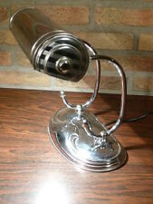 Chrome Art Deco 20's Bankers lamp .