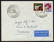 █ MADAGASCAR Enveloppe Premier 1er jour TANANARIVE Flore d'outre Mer 31/01/1959