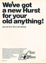 1969 Hurst Shifter Car V.1 Vintage Advertisement Ad P44