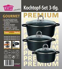"Kochtopfset ""Gourmet Premium"" Alu-Guss 3-tlg Töpfe Topfset Kochtopf  GSW  414326"