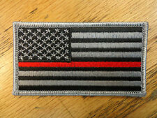 AMERICAN USA FLAG THIN RED LINE FIREFIGHTER EMBROIDERED PATCH