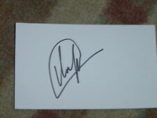 Mikuo Ilonen  Signed 3x5 Index Card