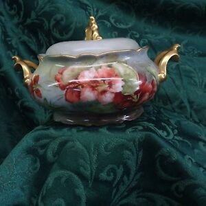 Antique French Limoge Covered Dish
