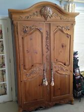 Ethan Allen Bedroom/Family Room Armoire Legacy Country French Carvd Byr Pay  Ship