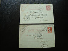 FRANCE - 2 cartes entier 1912 (cy84) french