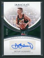 2016-17 DETLEF SCHREMPF 64/99 AUTO PANINI IMMACULATE COLLECTION AUTOGRAPHS