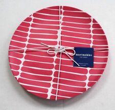Marimekko for Target 4-count Dinner Plates Pink White Okariino Melamine