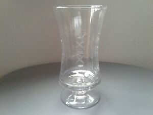 Antique Late Victorian Hand Blown Glass Waisted Panel Cut Celery Vase