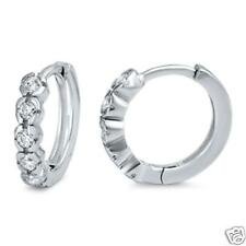 Silver Huggie Earrings Sterling Silver 925 Continuous Best Price Cubic Zirconia