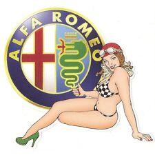 ALFA ROMEO left Pin Up gauche Sticker