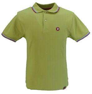 Trojan Records Mens Pistachio Classic Retro Polo Shirt