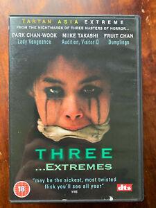 Three Extremes DVD 2004 Korean Japanese Anthology Horror UK Tartan Asia Extreme
