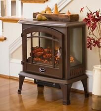 Panoramic Quartz Infrared Stove Heater Electric Wood Stoves Room Space Heating