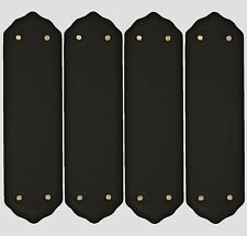 Pack Of 4 x Black Porcelain Door Finger Push Plates