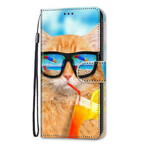 Cartoon Animals Stand Leather Wallet Phone Case Cover For Samsung J3 J4 J5 J6 J7