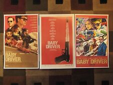 "Baby Driver  (11"" x 17"") Movie Collector's Poster Prints (Set of 3)"