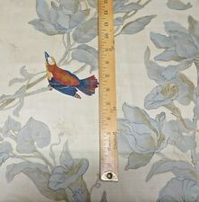 5.25yds Kravet Century BirdSong Cotton HandPrint Multi Purpose Decorating Fabric