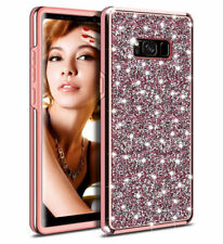 Bling Diamond Shockproof Protective Case PC Cover For Galaxy Note 9 8 S9 S8