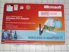 MICROSOFT MN-730 WIRELESS-G BROADBAND ADAPTER PCI 802.11G 54-Mpbs WIFI MM-223
