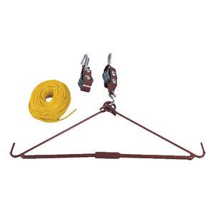 Tourbon 440lb Pulley Rope Gambrel Hoist System Game Gutting Hog Elk Deer Hanger