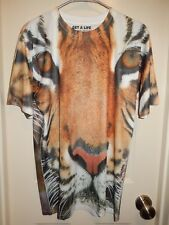 Get A Life TIGER Polyester Short Sleeve Graphic Tee T-shirt Tag Size M