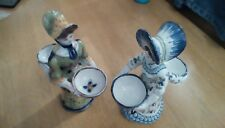 rouen faience and quimper style salts figurines (rare)