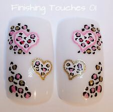 Nail Art Sticker- 3D Pink Glitter Heart #144 BLE1013D Valentine Animal Print