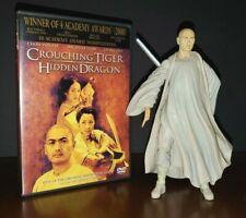 CROUCHING TIGER HIDDEN DRAGON  Li Mu Bai ACTION FIGURE + WIDESCREEN DVD PreOwned