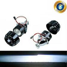 "(2) 2.5"" Bi Xenon HID Projector Retrofit Headlight Lens Angel Eyes H1 H4 DIY Kit"