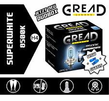 Gread Lights H4 SuperWhite 8500K 60/55W Xenon Look Optik Halogen Lampen + W5W