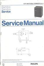 Philips Service Manual für MFB-Box 22 RH 541  .