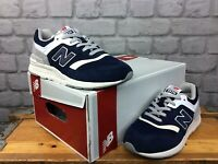 NEW BALANCE LADIES UK 4.5 EU 37.5 997H NAVY BLUE WHITE SUEDE TRAINERS RRP £75 LG