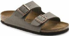 Birkenstock Arizona Stone Birko-Flor Nubuck Mens Regular Sandals