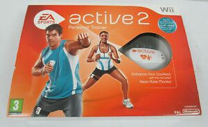Nintendo Wii EA Active Sports 2 - Heart Rate Monitor, Tracking, Band, USB & Game