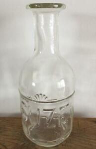 VINTAGE FRENCH SUZE GLASS WATER CARAFE 1930's