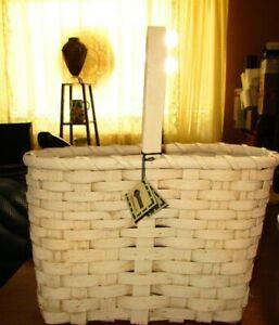 Blossom Bucket Vintage white washed basket with original label
