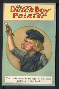 1910 National Lead Company DUTCH BOY PAINT Lithographed Advertising Postcard