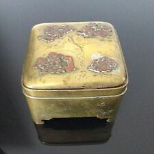 Coffret Fin XIXè en Bronze Doré Indochine Victorian Asian Gilded Jewel Box 19C