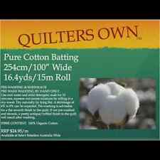 M - Quilter's Own 100 Cotton Batting Wadding Roll 15m X 2.54m Wide