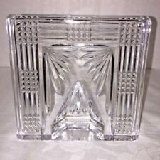Vintage WATERFORD Lead Crystal Square Picture Frame Giftware Collectible