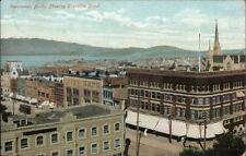 Vancouver BC Showing Granville Street c1910 Postcard