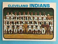 1973 TOPPS CLEVELAND INDIANS TEAM CARD #629