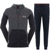 Hugo Boss Men's Athletic Sport Tracksuit Hoodie Jacket and Pants Set