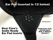 No Wind Noise Audio Speaker Ear Pad Inserts 4 DOT Motorcycle Shorty Half Helmet