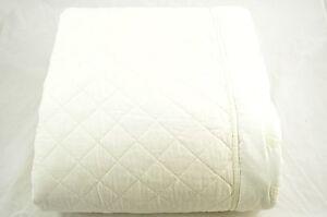 Martha Stewart Pressed Flowers Queen Ivory Bedspread I128