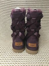 UGG Bailey Bow II Port Suede Fur Boots Womens Size 6 *NIB*